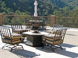 Featured predominantly on the front entry area of a corporate retreat area multiple seating areas and fire pits fueled by liquid propane. These fire pits were pre=-fabricated with each pit location pre-plumbed for propane to allow for permanent installation.