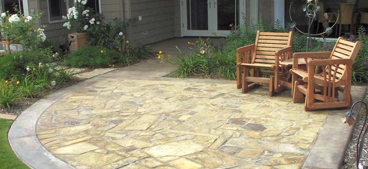 A flagstone deck will add a nice touch...