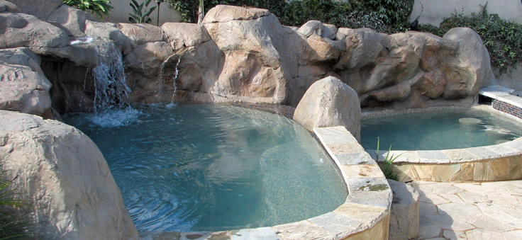 Upper Spa & lower Cool Pool...
